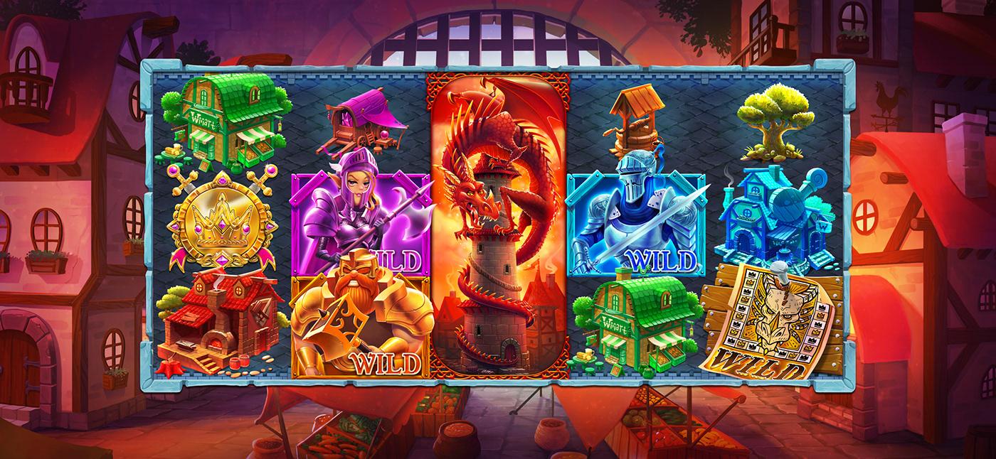 Slots ILLUSTRATION  gameart fantasy dragon knight digitalart