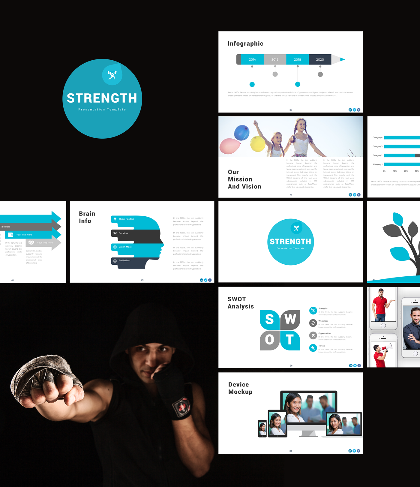 strength powerpoint template on behance
