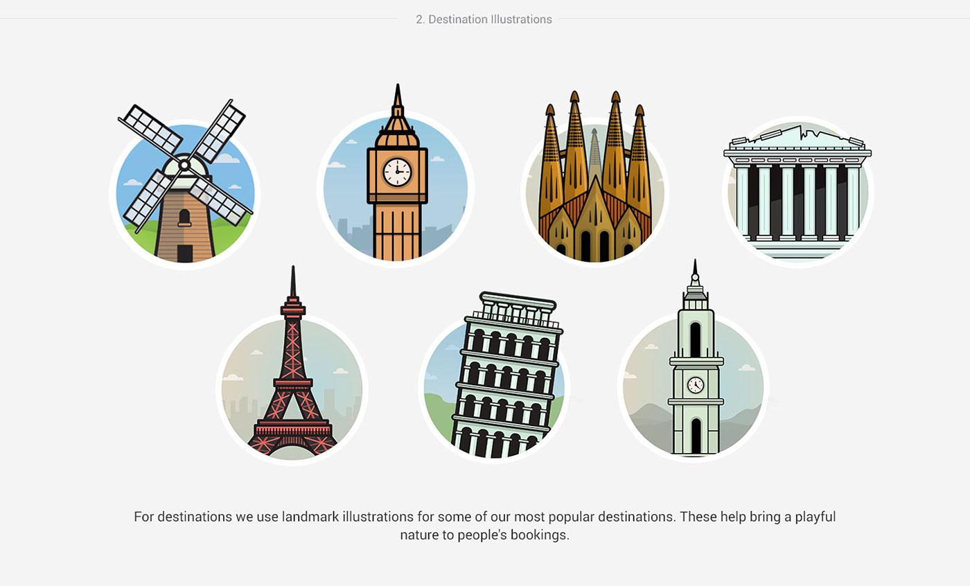 Adobe Portfolio Ryanair design styleguide Travel illustrations digital brand palette icons Ireland irish destination ui elements