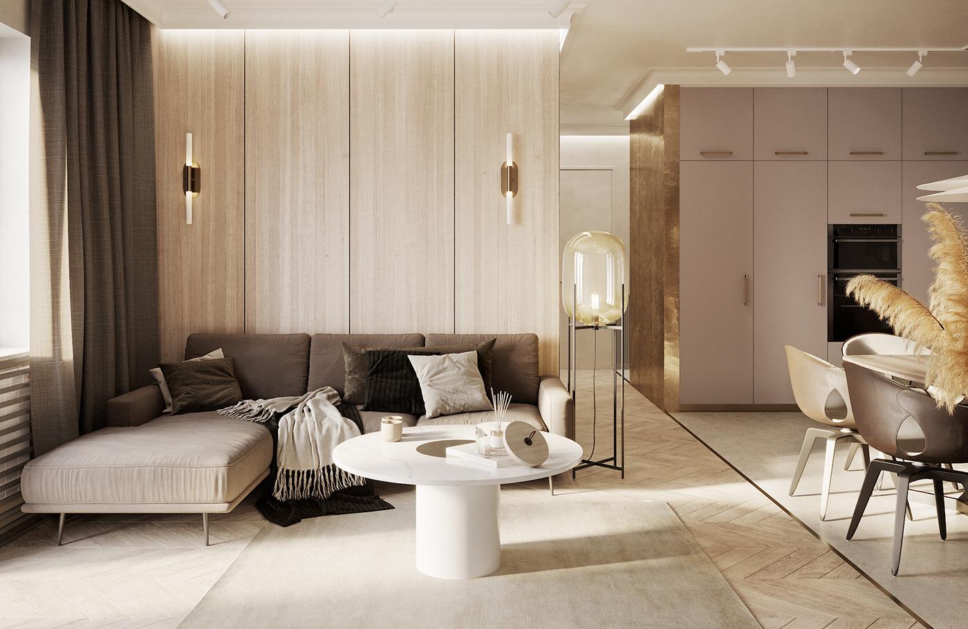 apartment residential modern biege minimal boutique