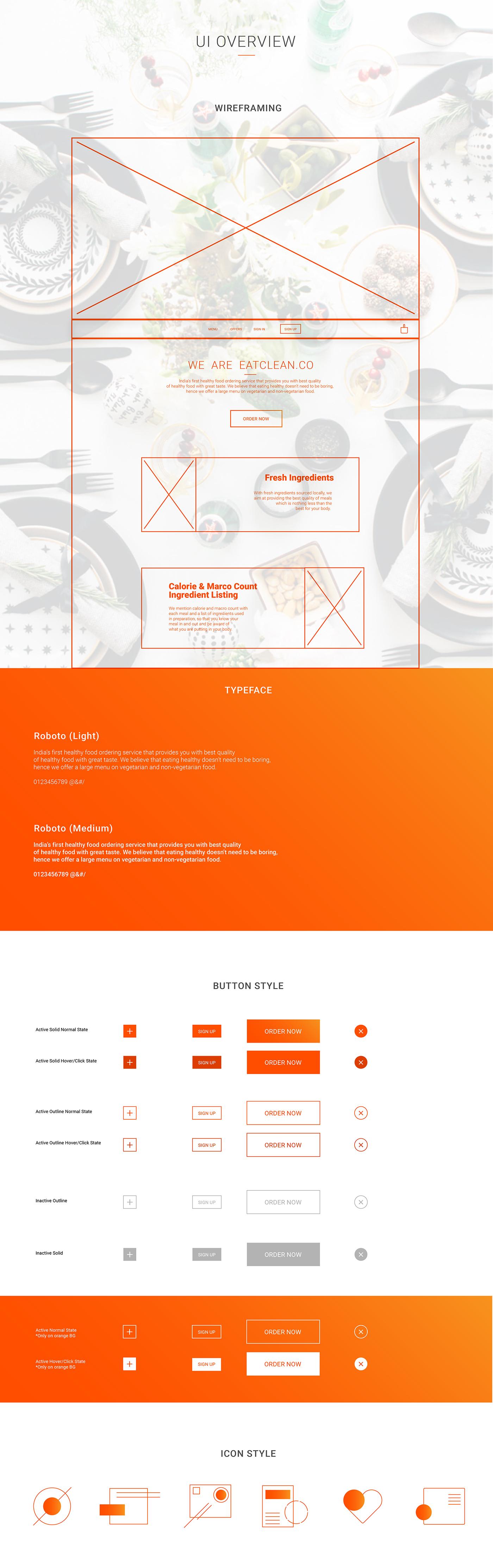 Food  India UI ux Website mobile Responsive fresh orange gourmet Health diet user experience research