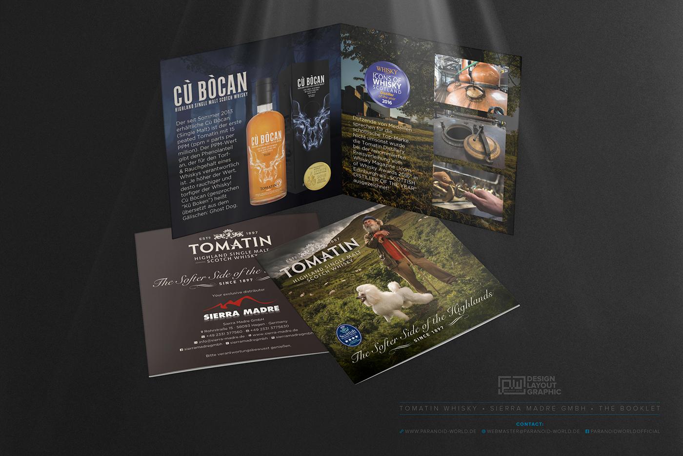 TOMATIN • Highland Single Malt Scotch Whisky • Booklet on Behance