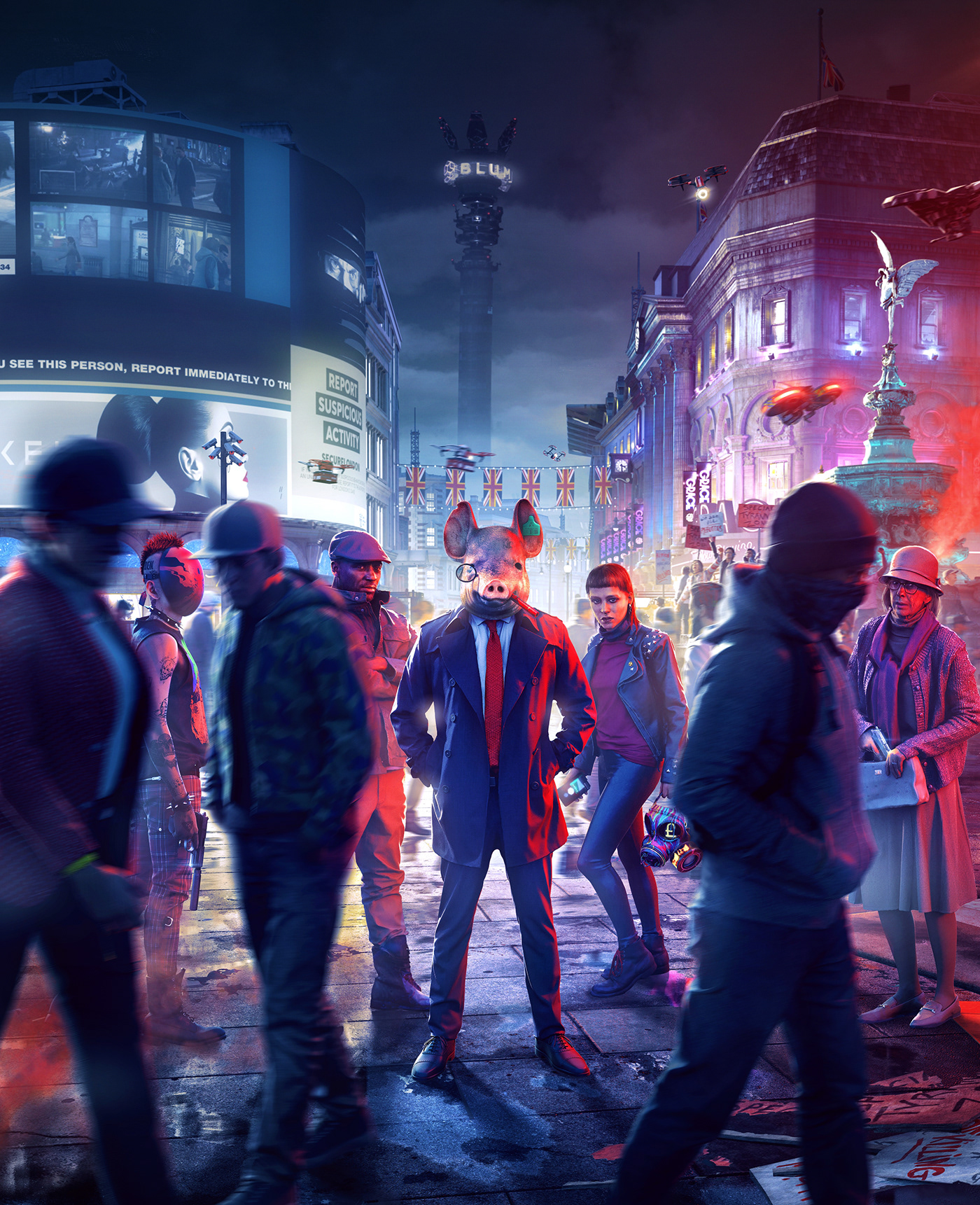 Watch Dogs Legion watch dogs video game London Dystopia Orwell Packaging communication United Kingdom Umbrella