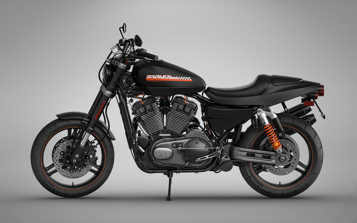 Harley Davidson Xr1200x On Behance