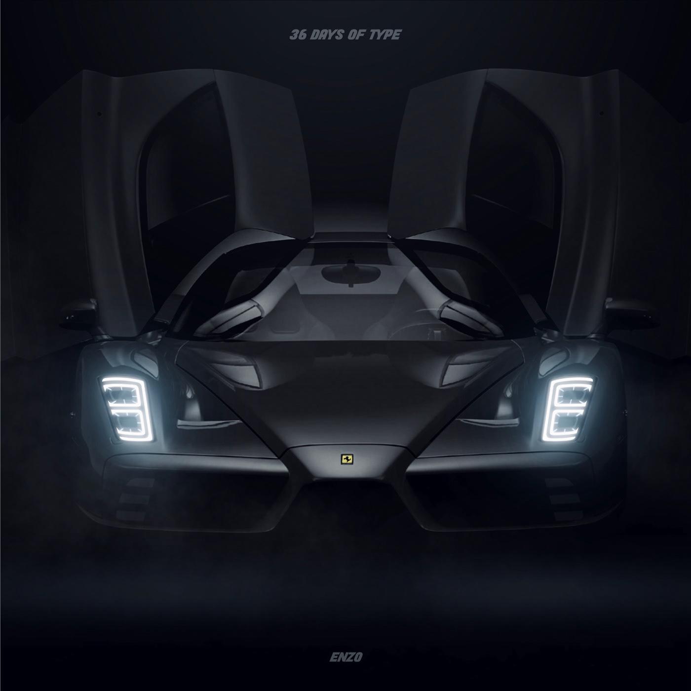 36daysoftype Audi car Cars graphicdesign graphics headlights lamborghini Supercars typography