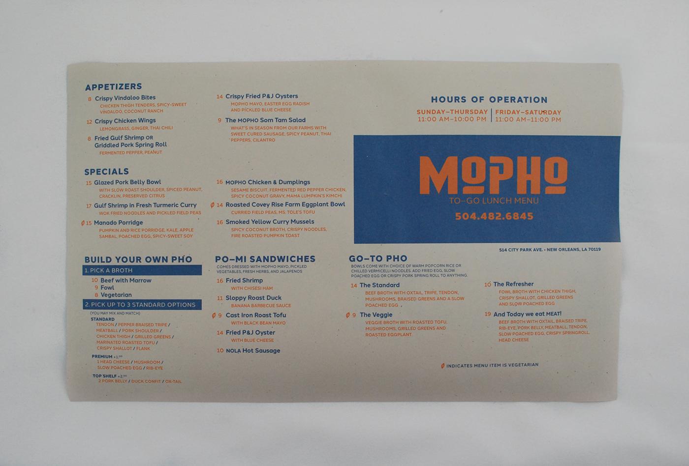MOPHO   MENU REDESIGN on Behance