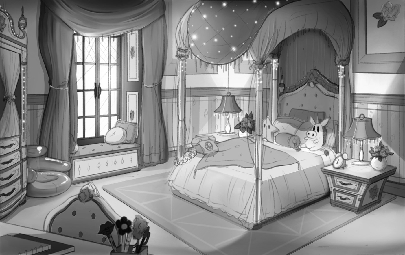 Rich Girl S Bedroom Animation Background On Behance
