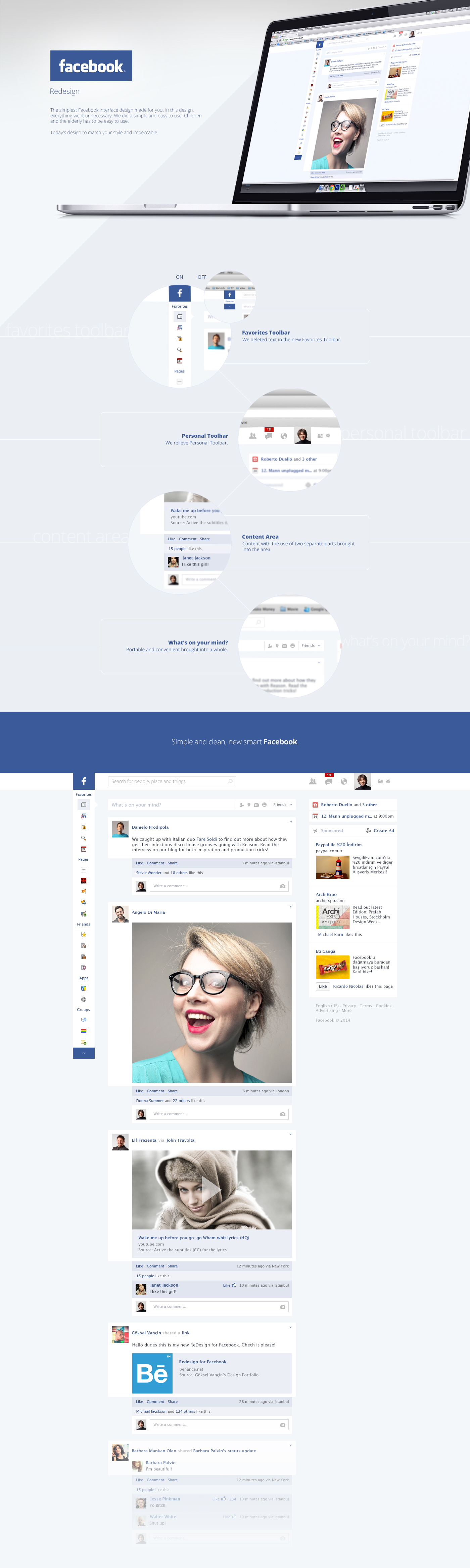 social media facebook timeline wall friend relationship girl boy Like share comment content dashboard flat