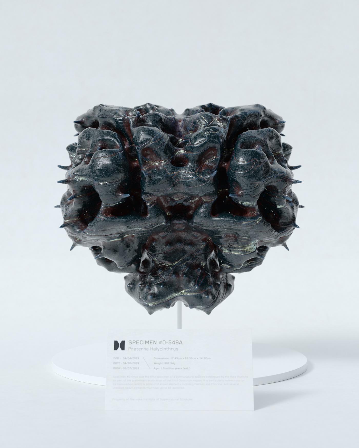generative design Procedural HoudiniFX concept art 3D rendering abstract Scifi science fiction skull