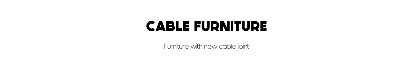 art cable furniture cmf craft DAWN furniture Interior stool table trend