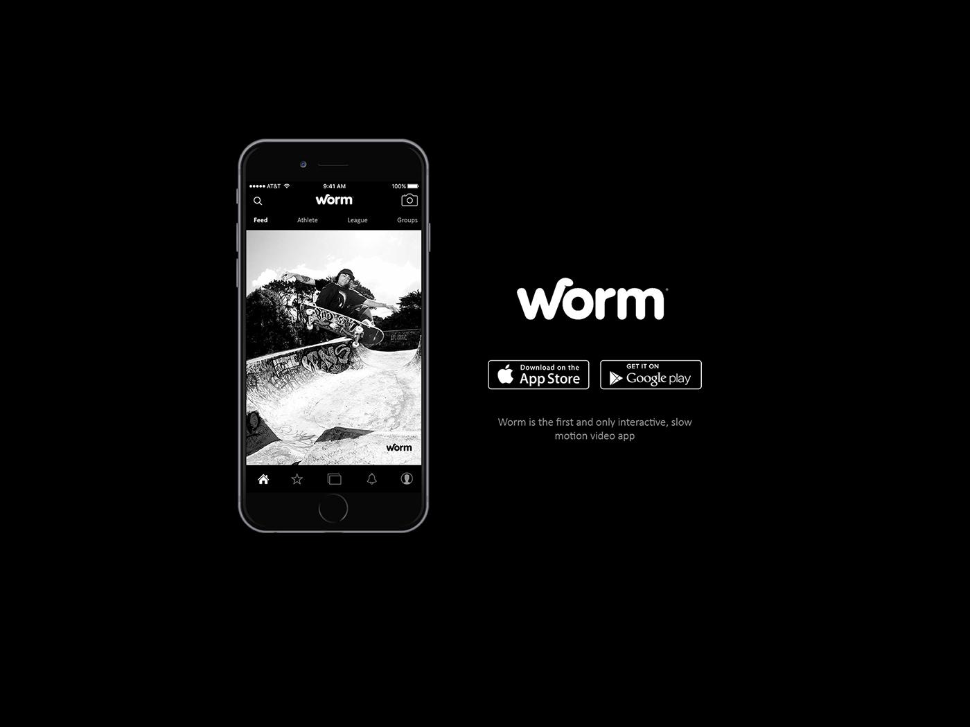Worm app design on Behance