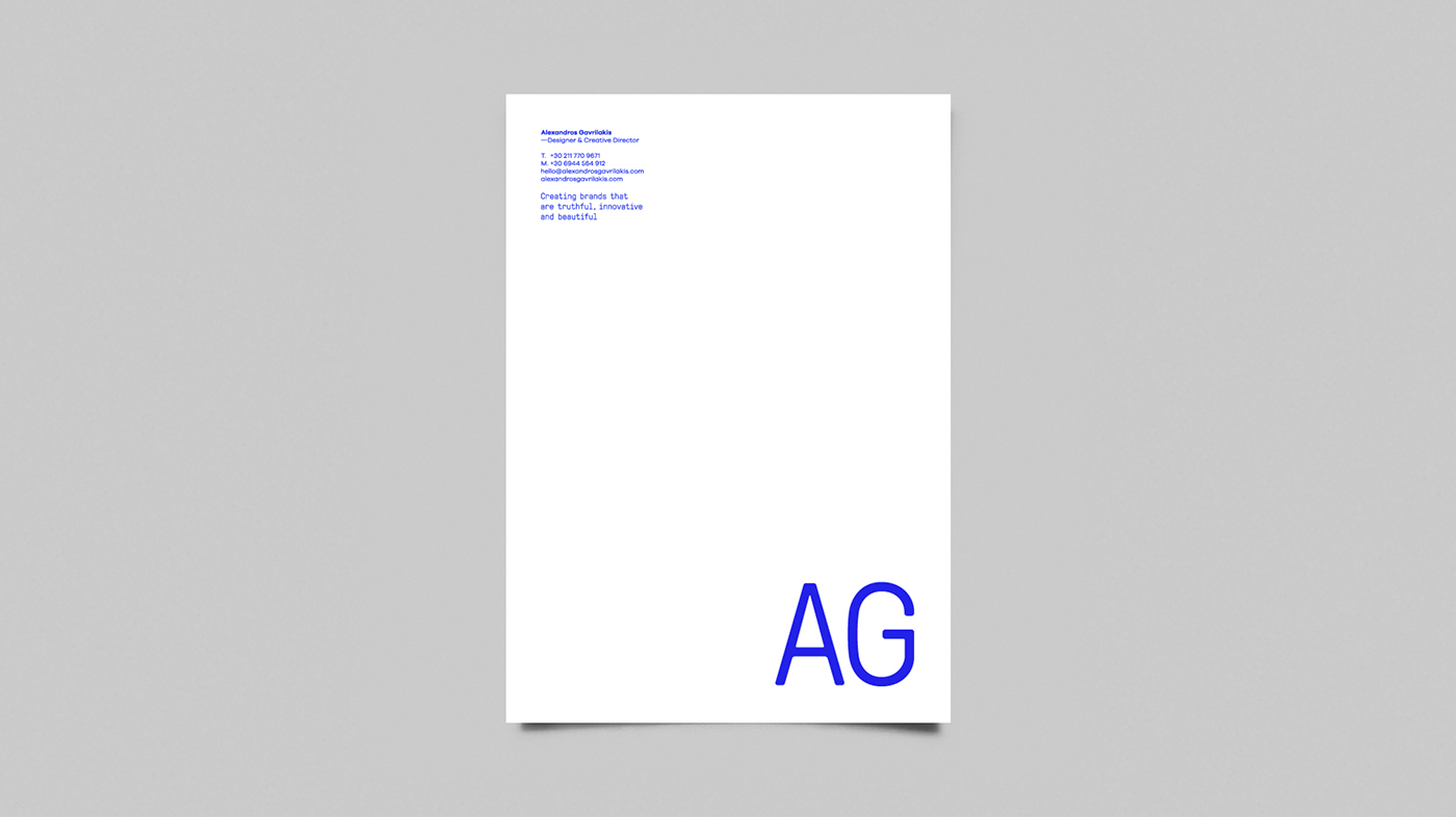 brand identity designer typography   Alexandros Gavrilakis AG Design blue bold