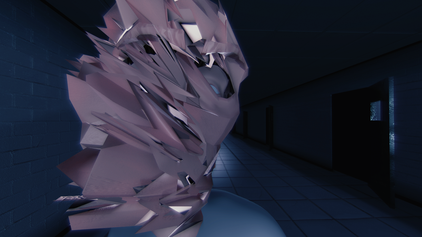 Glitch 3D Synthwave retrowave
