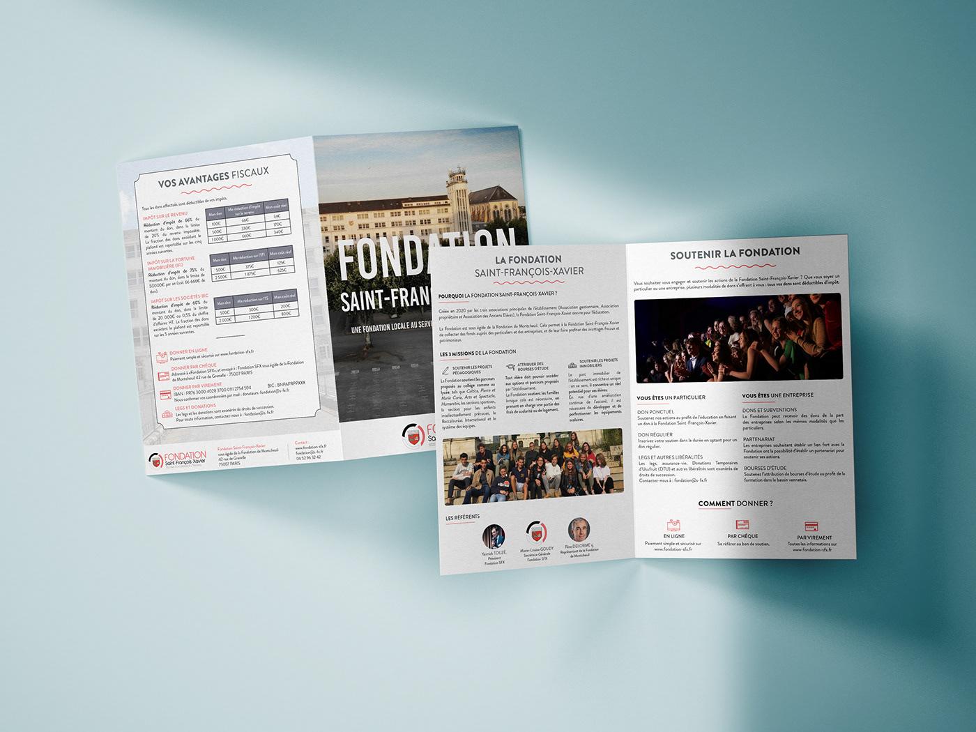Plaquette de présentation de la Fondation SFX à Vannes.