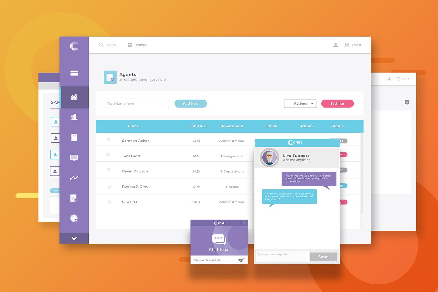 Web Application Dashboard Design Ui Ux Design On Behance