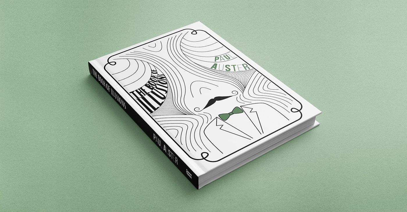 Adobe Portfolio book cover Illustrator books Paul Auster Digital Art  graphic design  digital illustration ILLUSTRATION