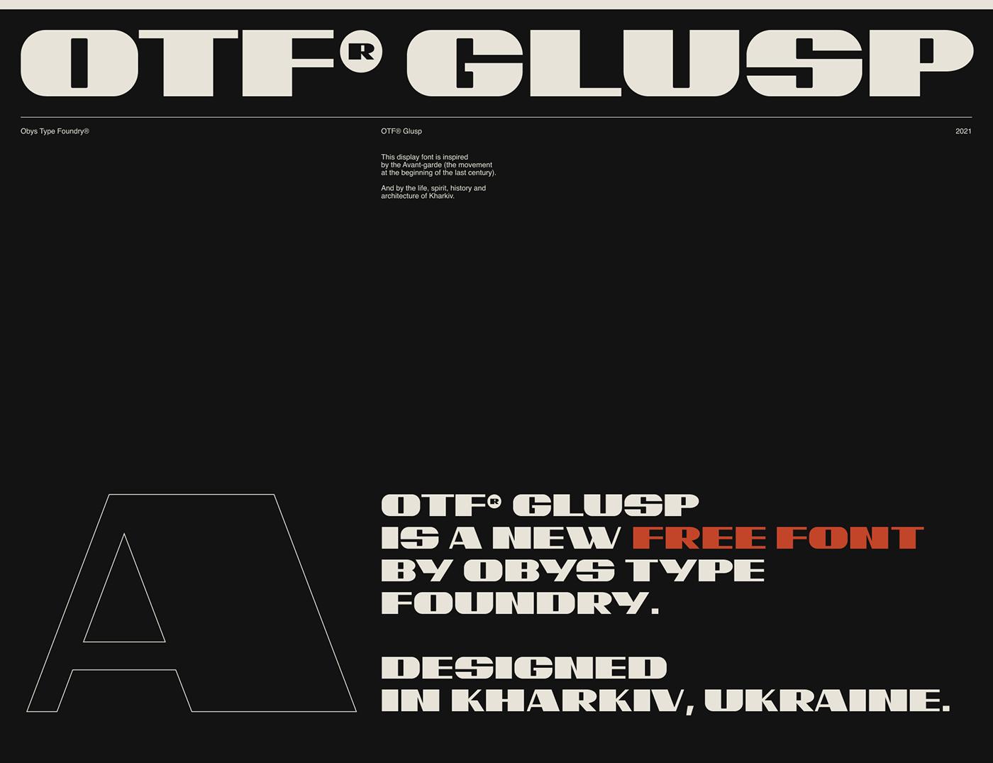 bold construtivism Display font free Free font kharkiv type Typeface