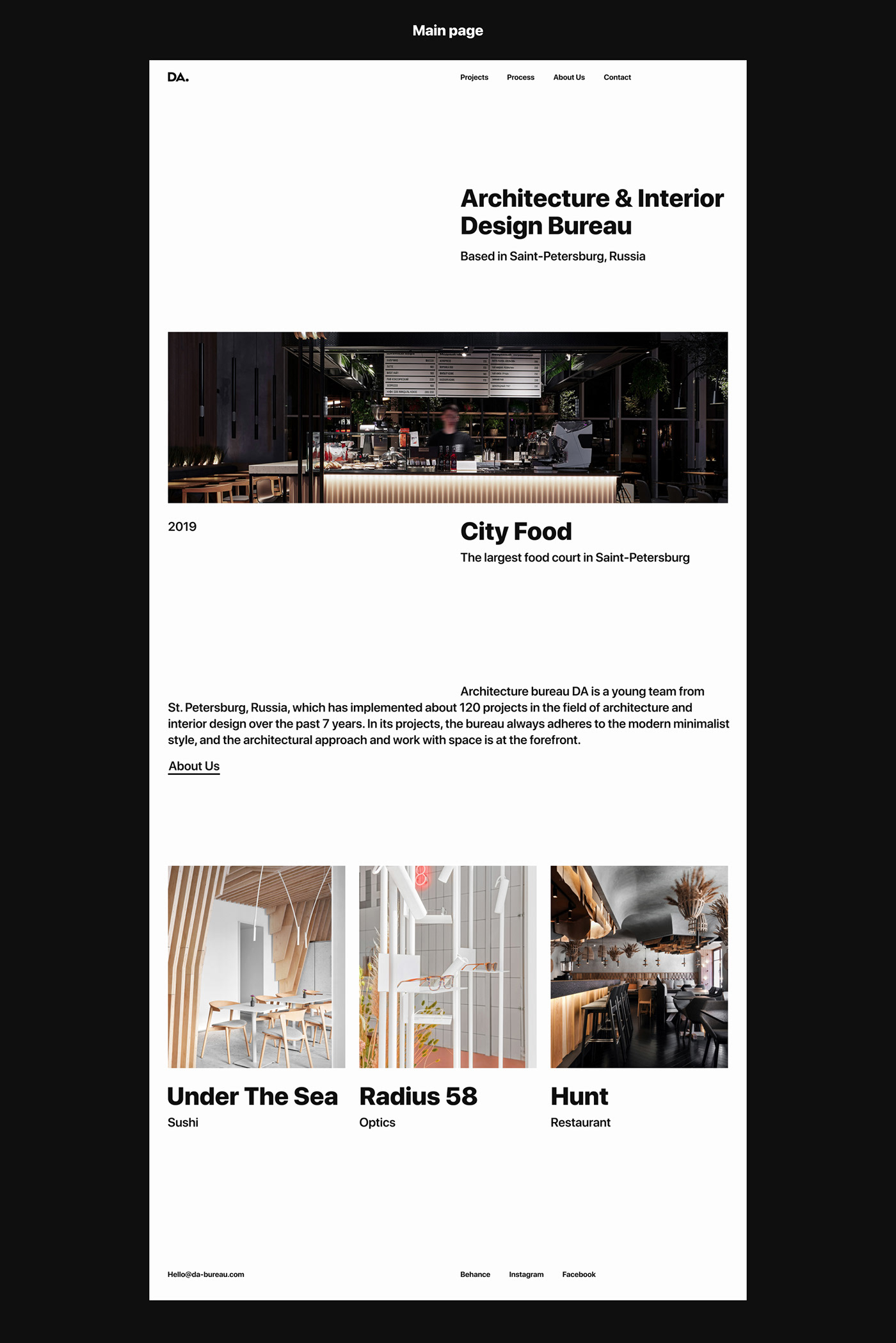 architecture bureau Architecture website Minimalism minimalist website minimalistic design white design architecture bureau Interior interior design