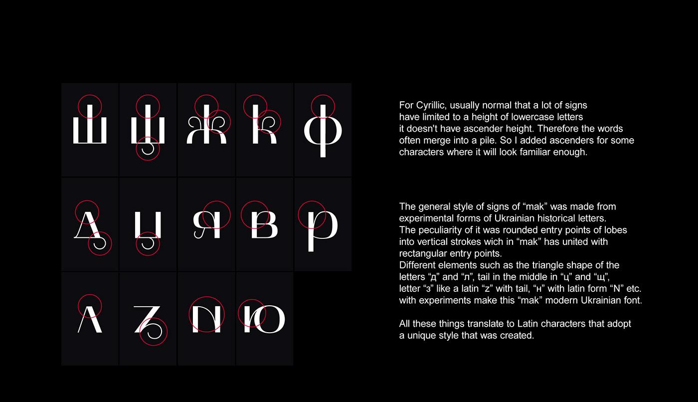Typeface font graphic design  Free font typograhpy Cyrillic Latin makfont experimental ukraine