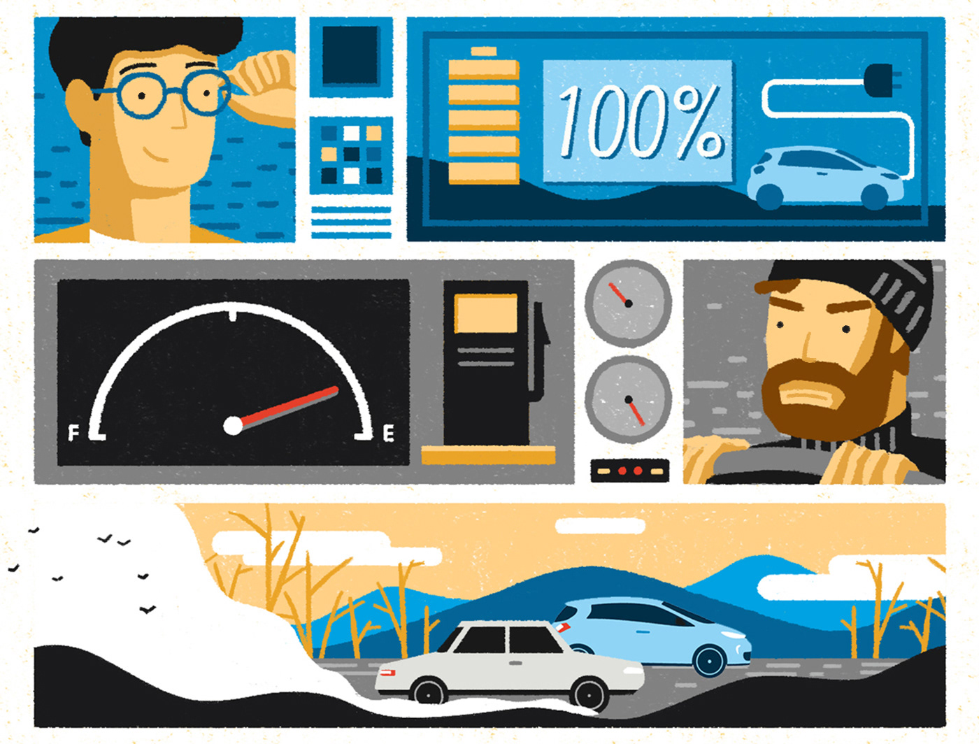 car storyboard Character 2DAnimation Vehicle mobile colours