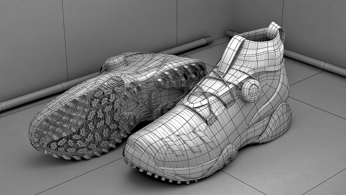 adidas shoes 3D animation  vfx Space  Movies ad campaign Fashion