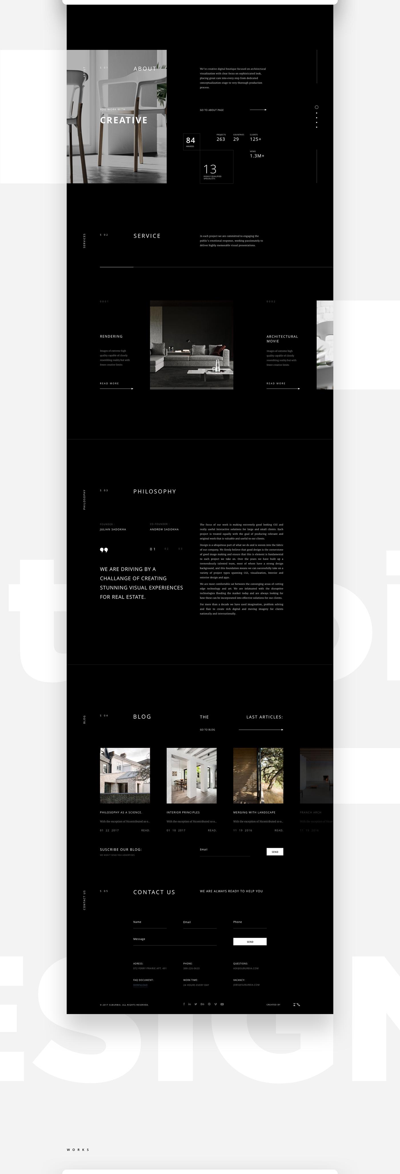 portfolio,architecture,Website,zipl,service,grid,slider,design,black,Project