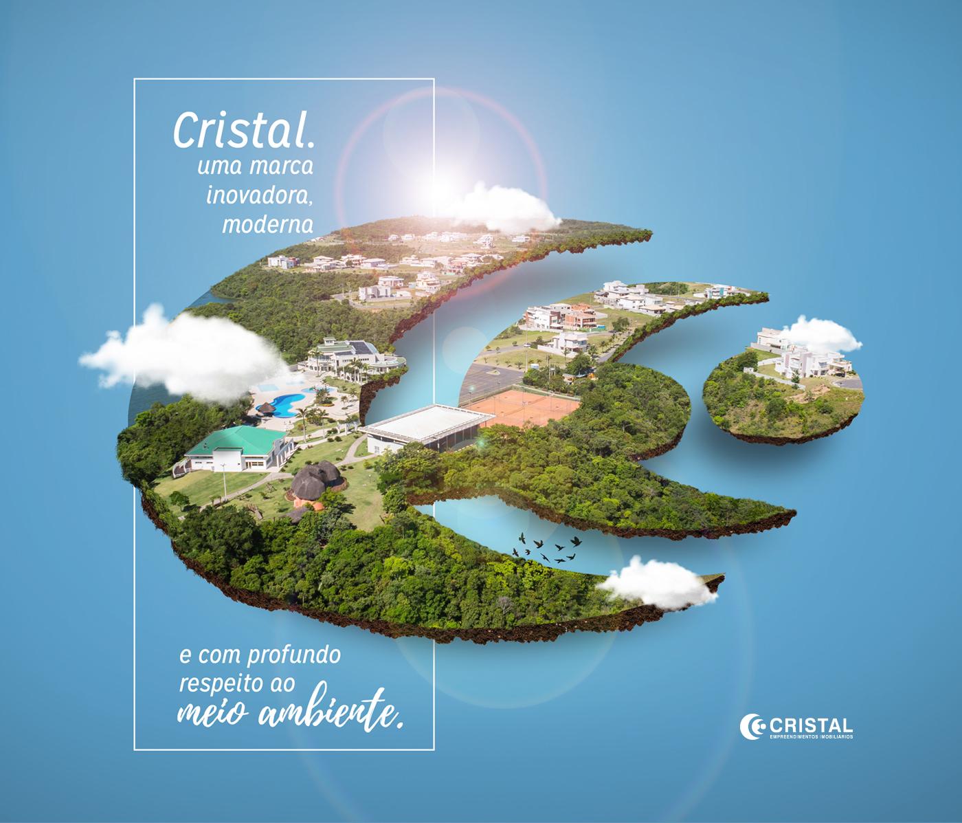 design social media Isometric criation land graphic design  rogers alberto Mboitatá cristal empreendimentos