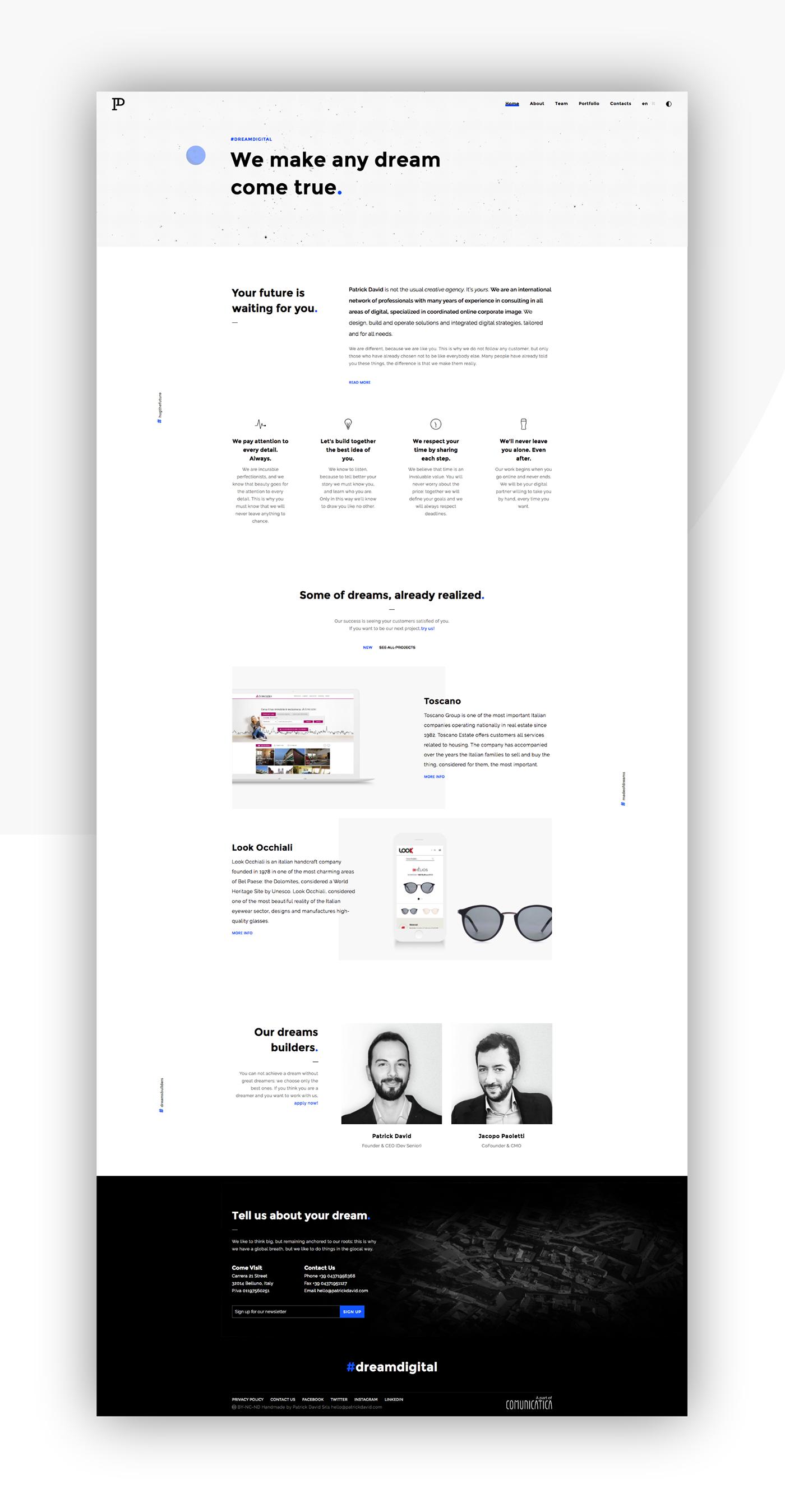 minimal clean agency animation  creative Website Web Design  design portfolio White