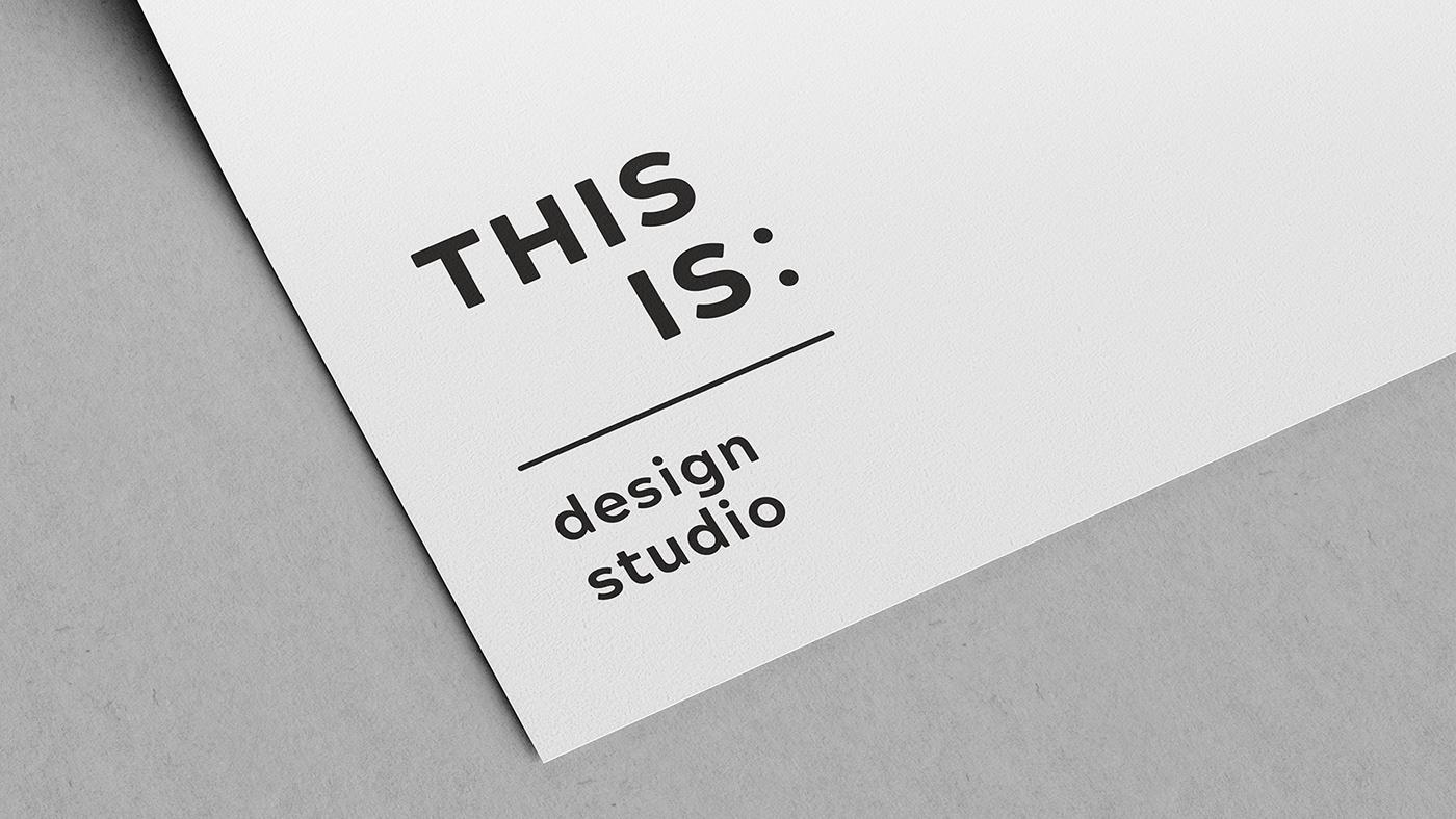 branding  CI Design design studio minimal design