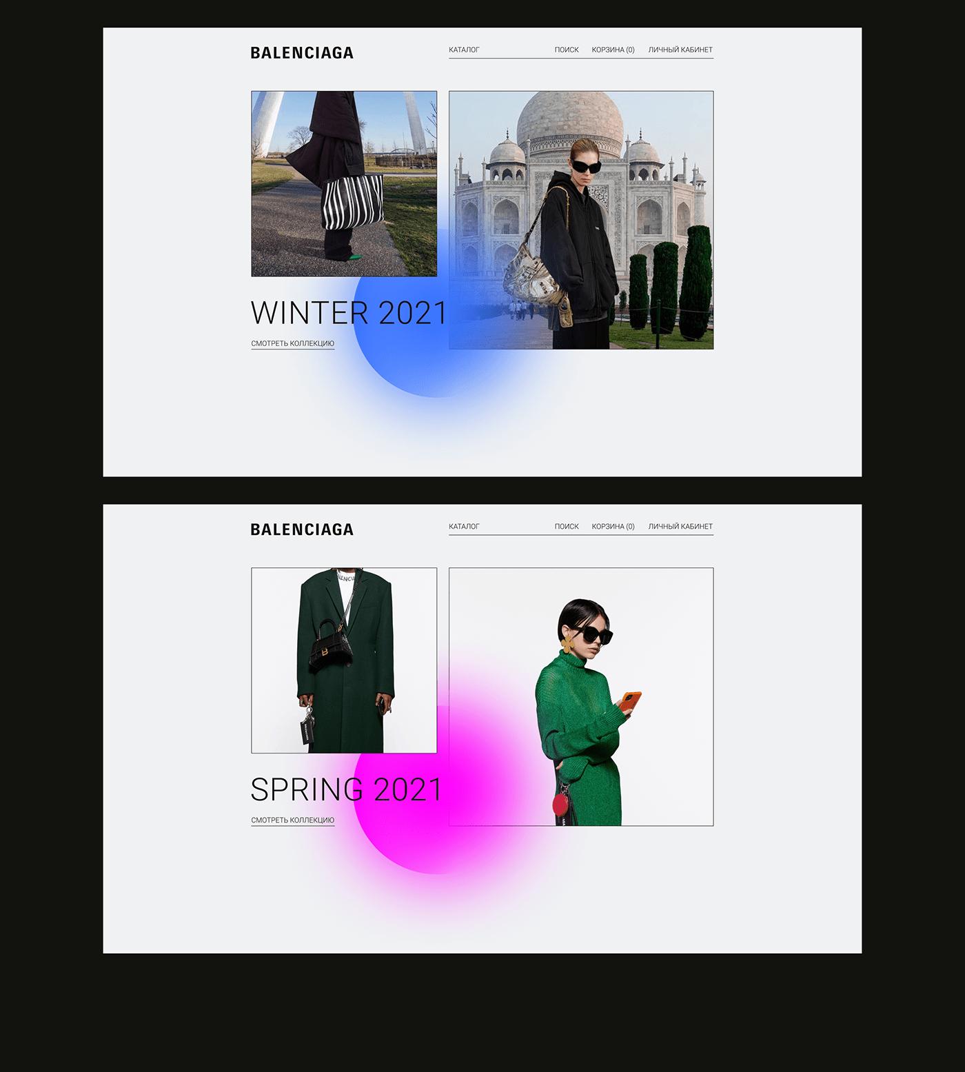 Balenciaga clothes e-commerce Ecommerce Fashion  shop UI ux Web Webdesign