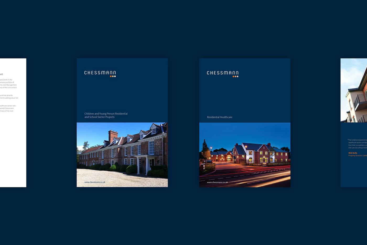 construction cardiff wales design Web brochure blue
