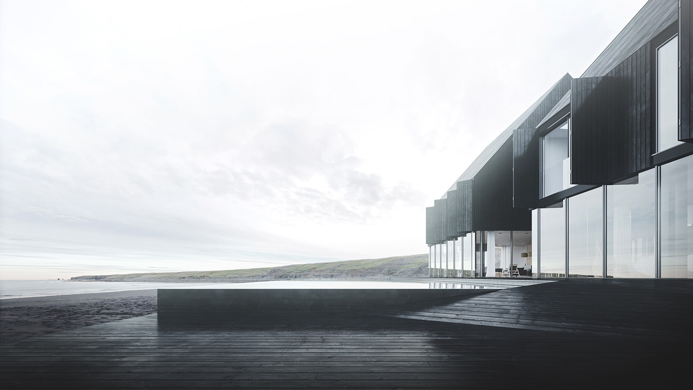 Icelandic coastal house on behance for Minimalisme architecture