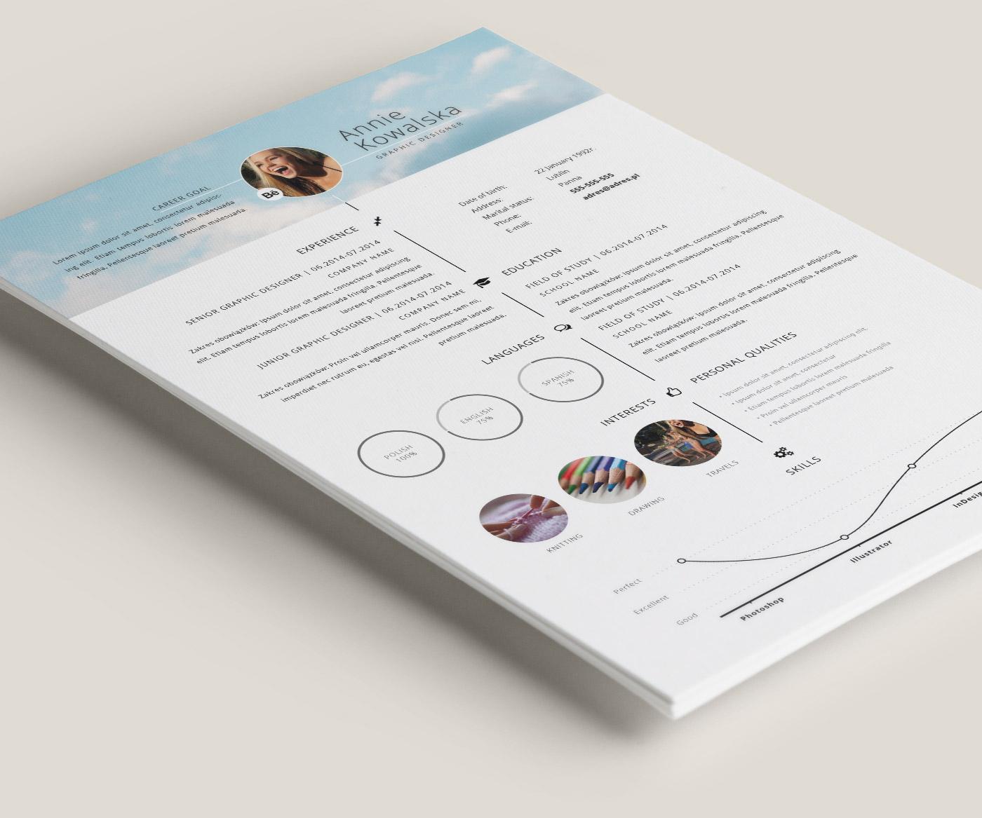 free minimalistic resume  cv timeline