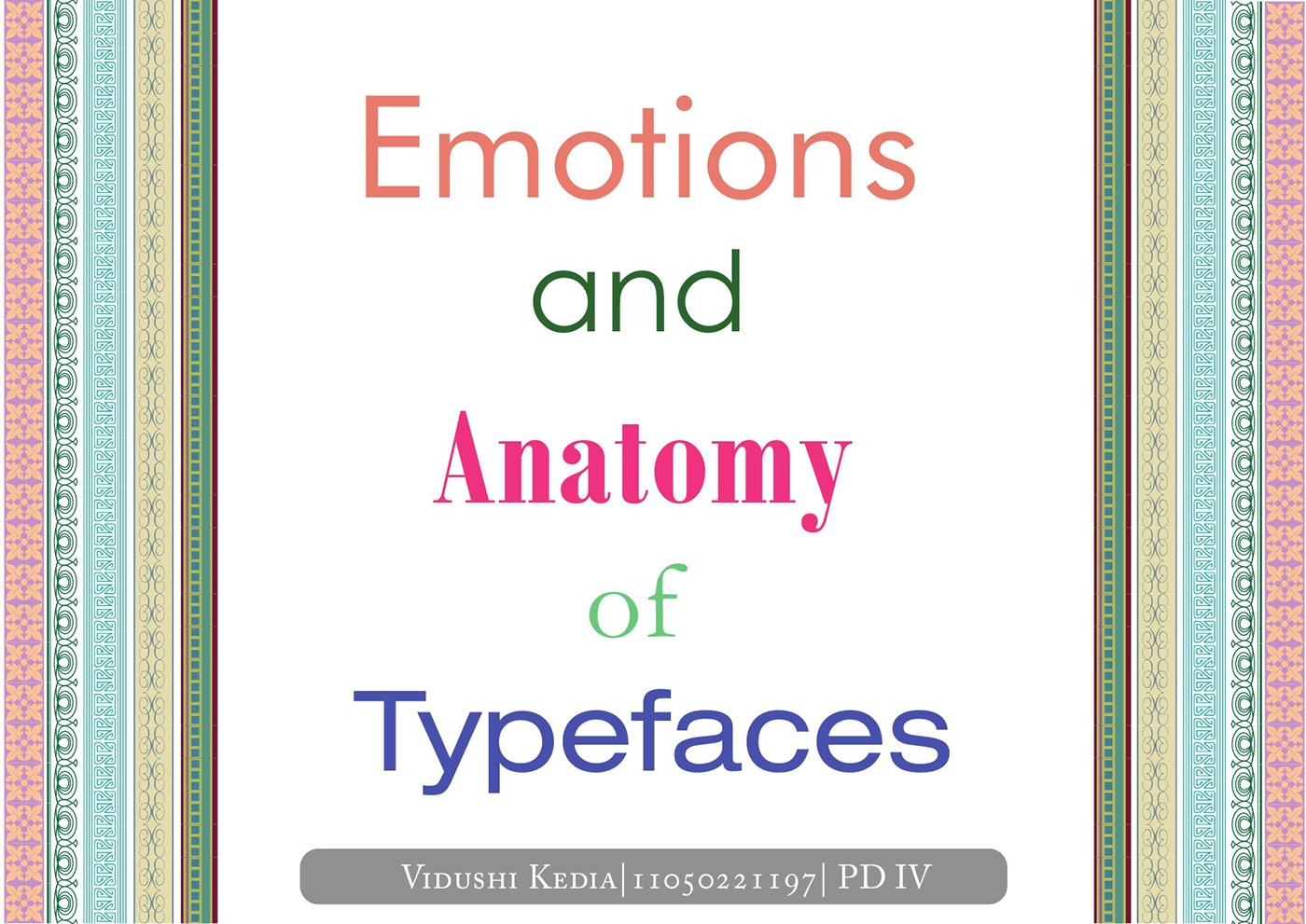 Emotions and Anatomy of Type on Behance