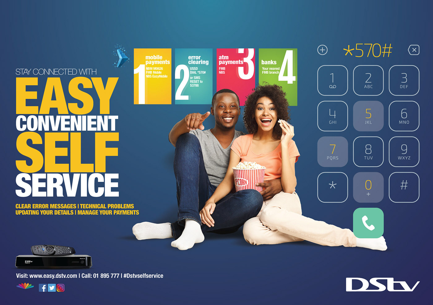 DSTV Malawi Self Service Campaign on Behance