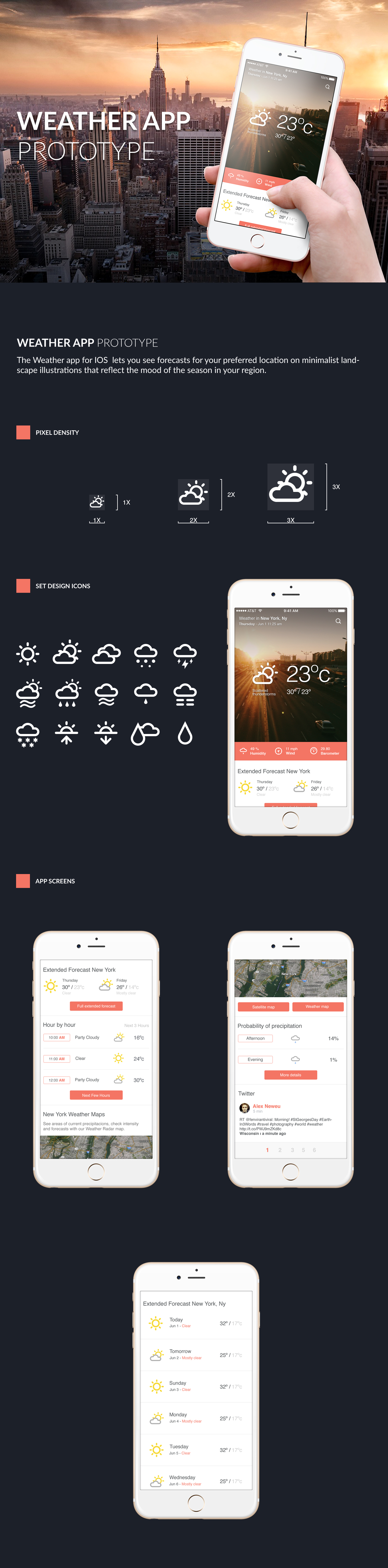 uxdesign uidesign weather mobileapp