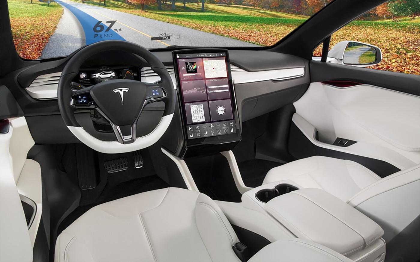 Interface Tableau De Bord Tesla On Behance