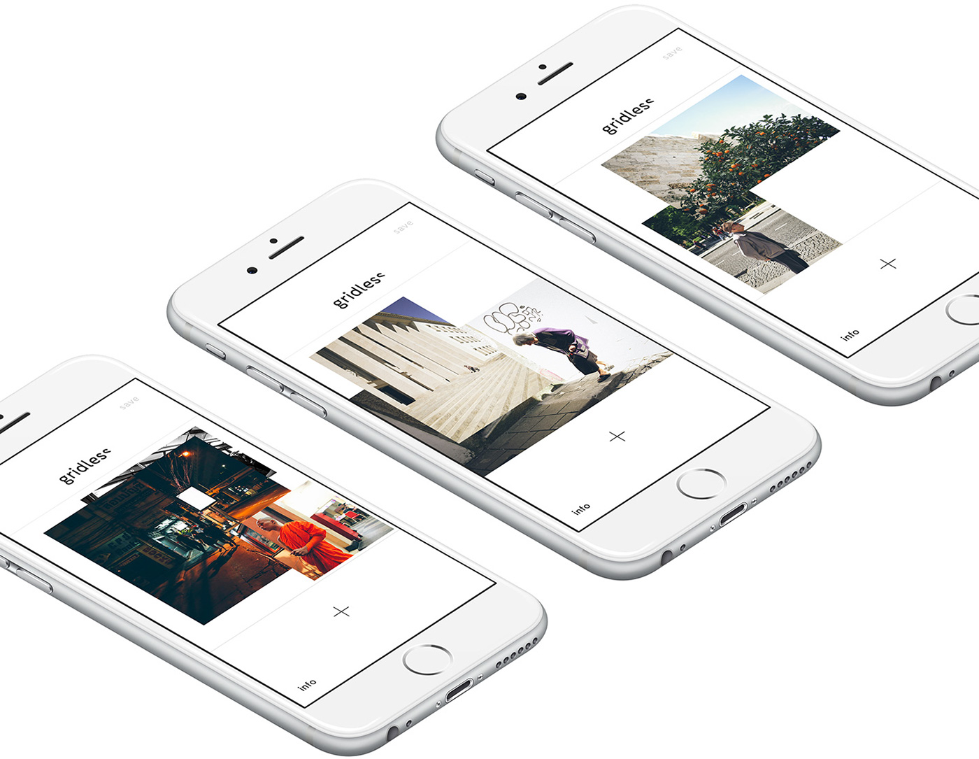 app ios iphone Photography  grid composition Native minimal instagram collage