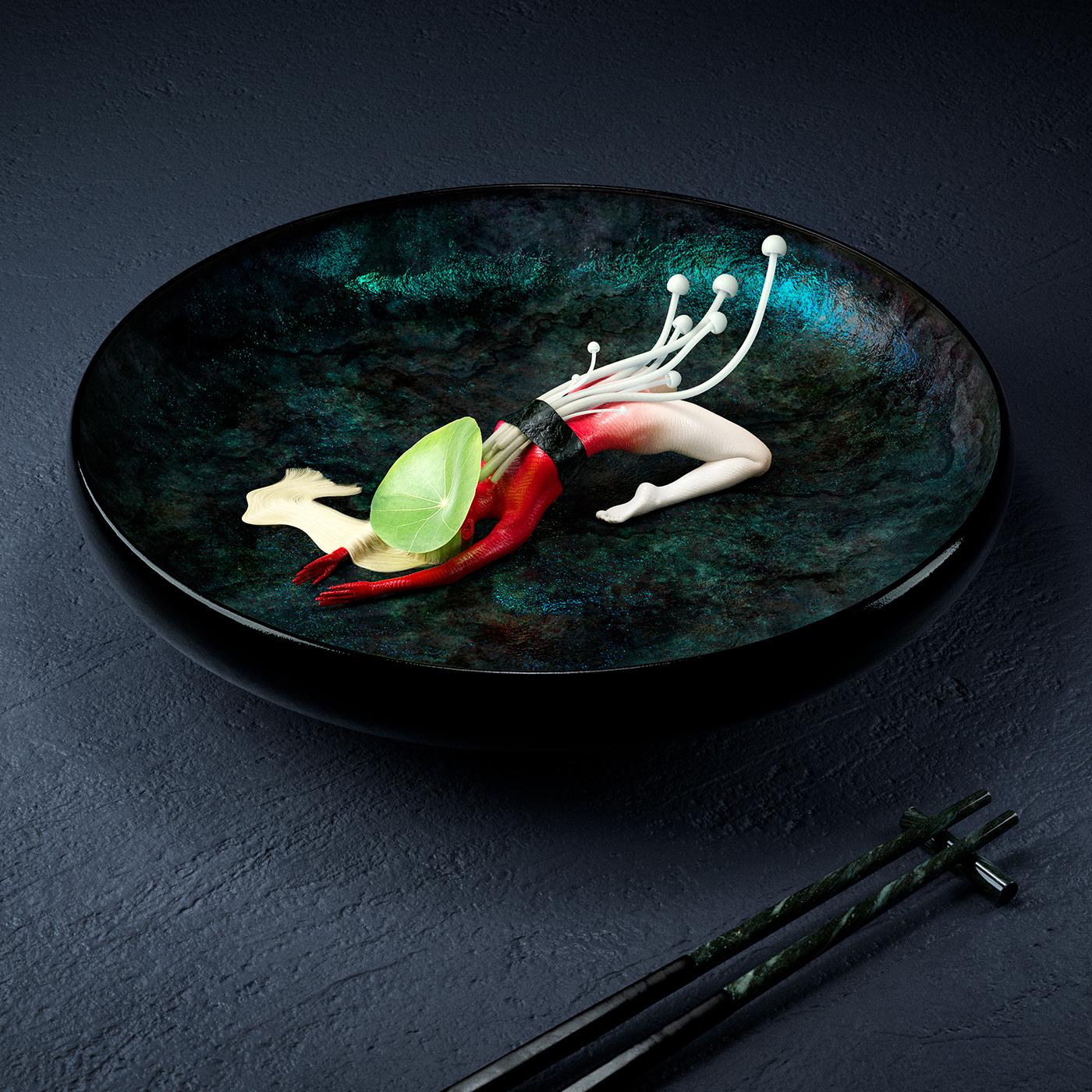 Digital Art ,women body,Sushi,gastronomy,gourmet,luxury,foodporn