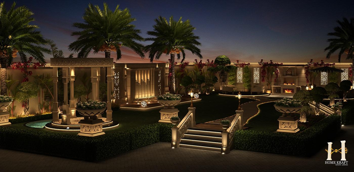 Garden Design Night View on Behance