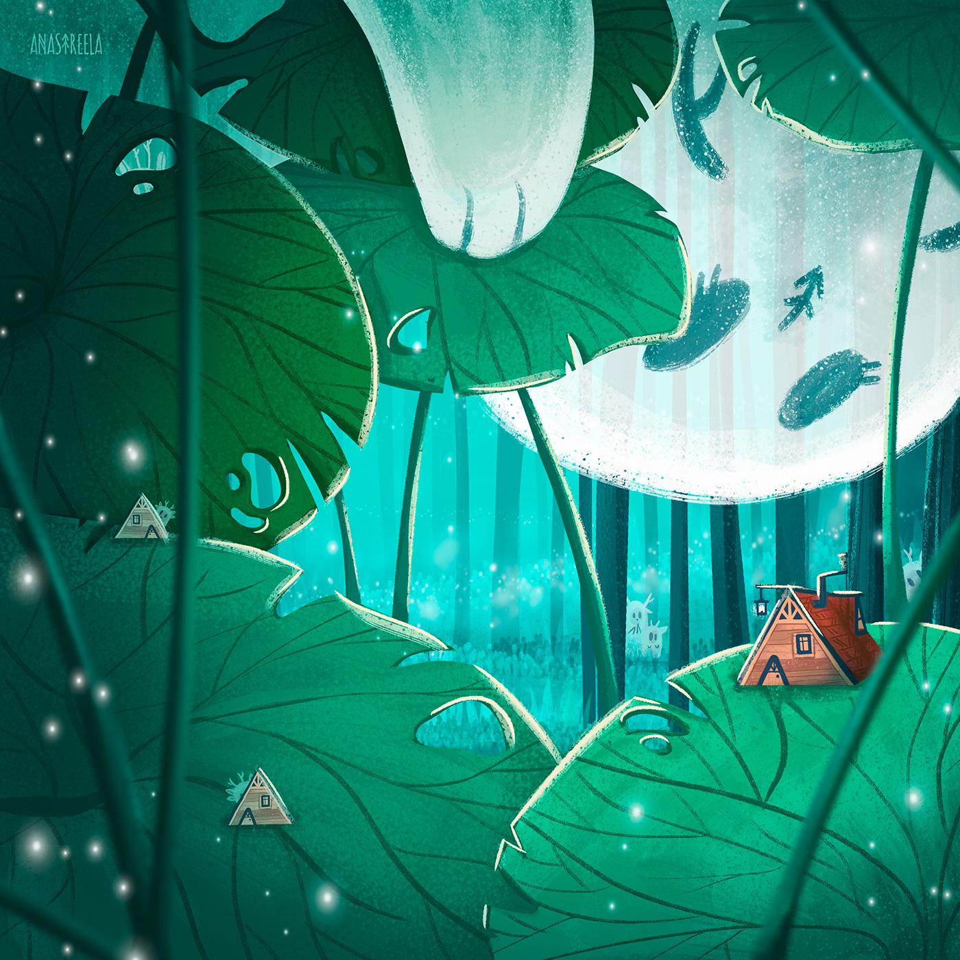 animal book Character ChildrenIllustration childrensbook design fairy ILLUSTRATION  kid Nature