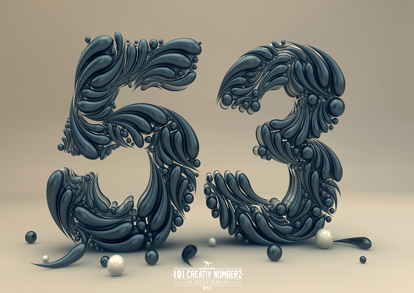 Creative Numbers Typography