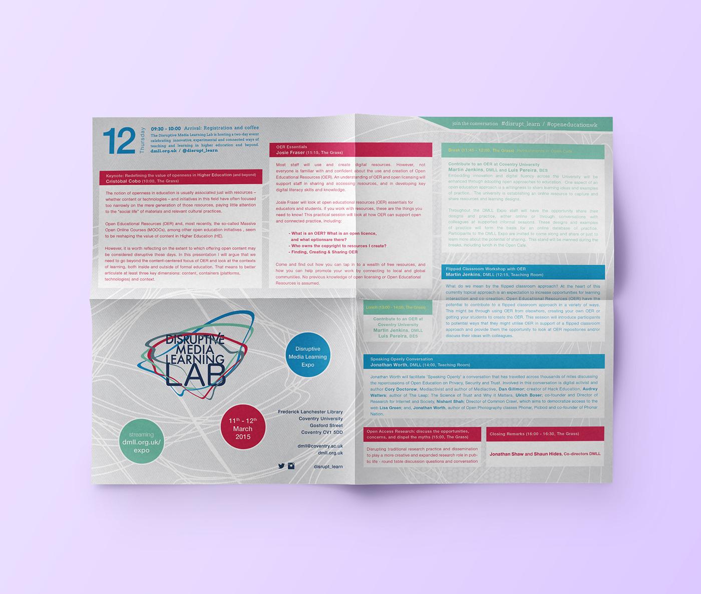 programme dmll print folding information Event