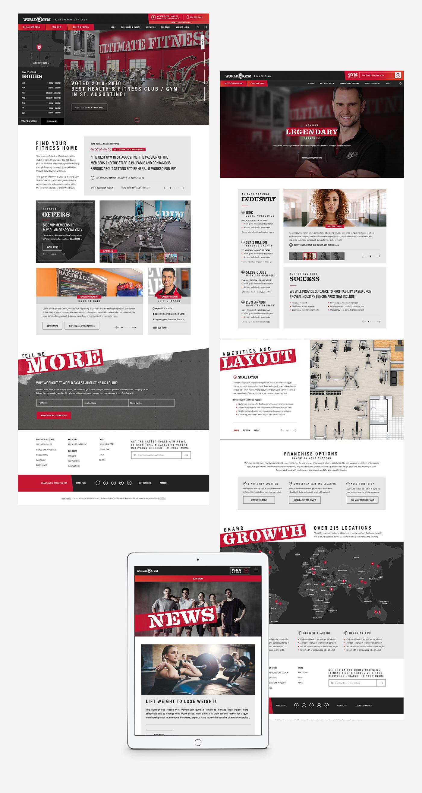 Website Design branding  Web Design  UI ux Responsive franchising gym fitness