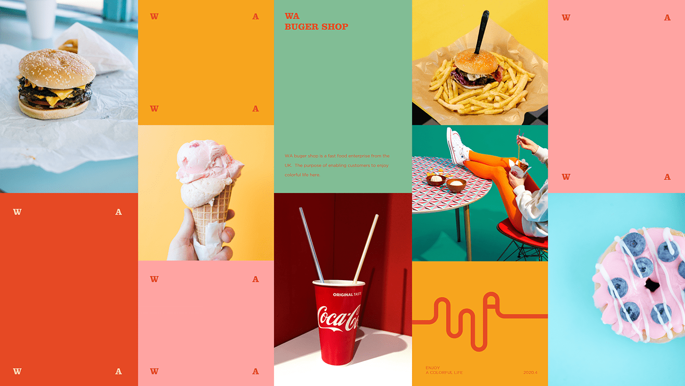 advertisement brand colorful Desgin Food  graphic identity logo poster Printing