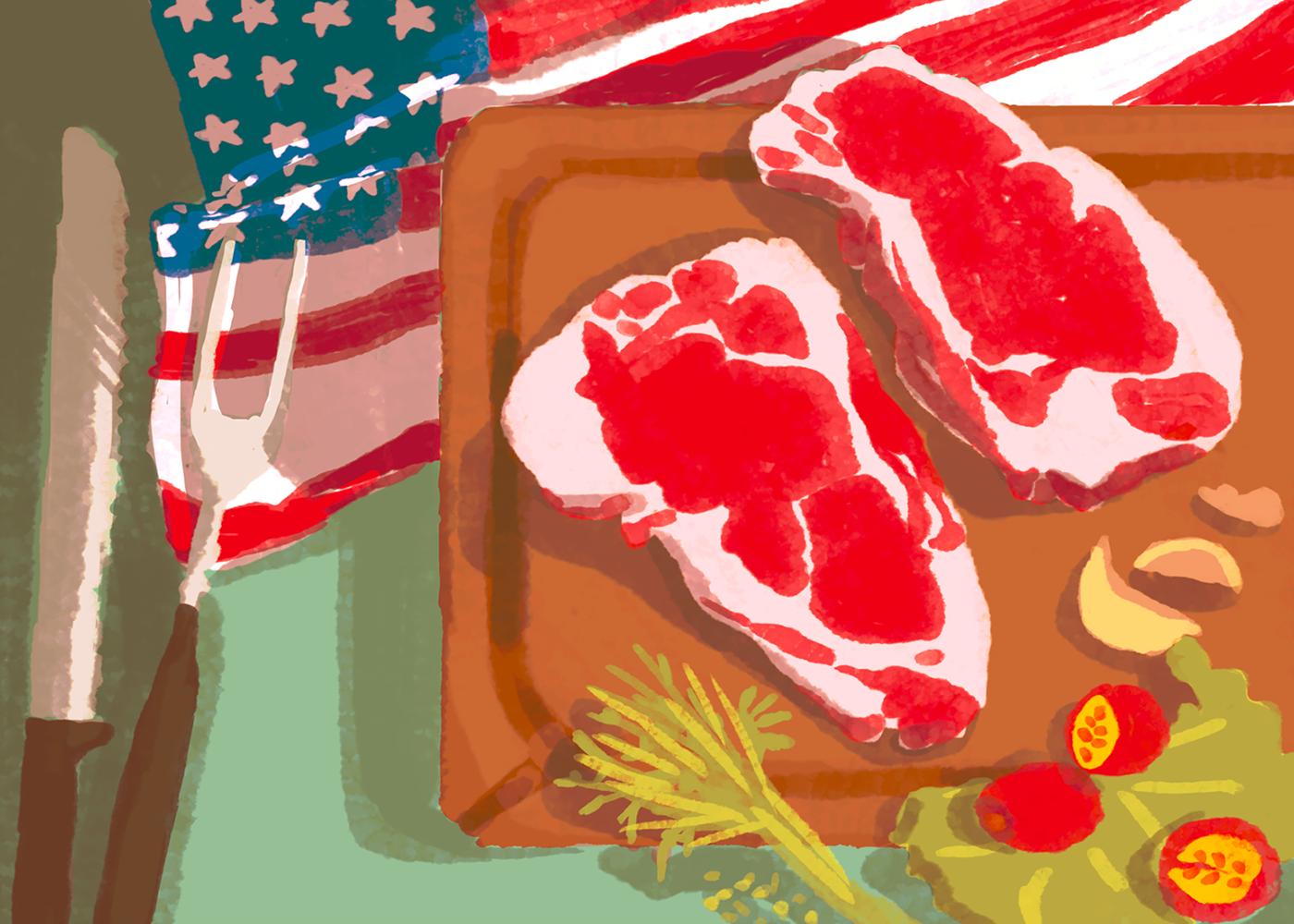 MICA editorial Food  ILLUSTRATION  digital