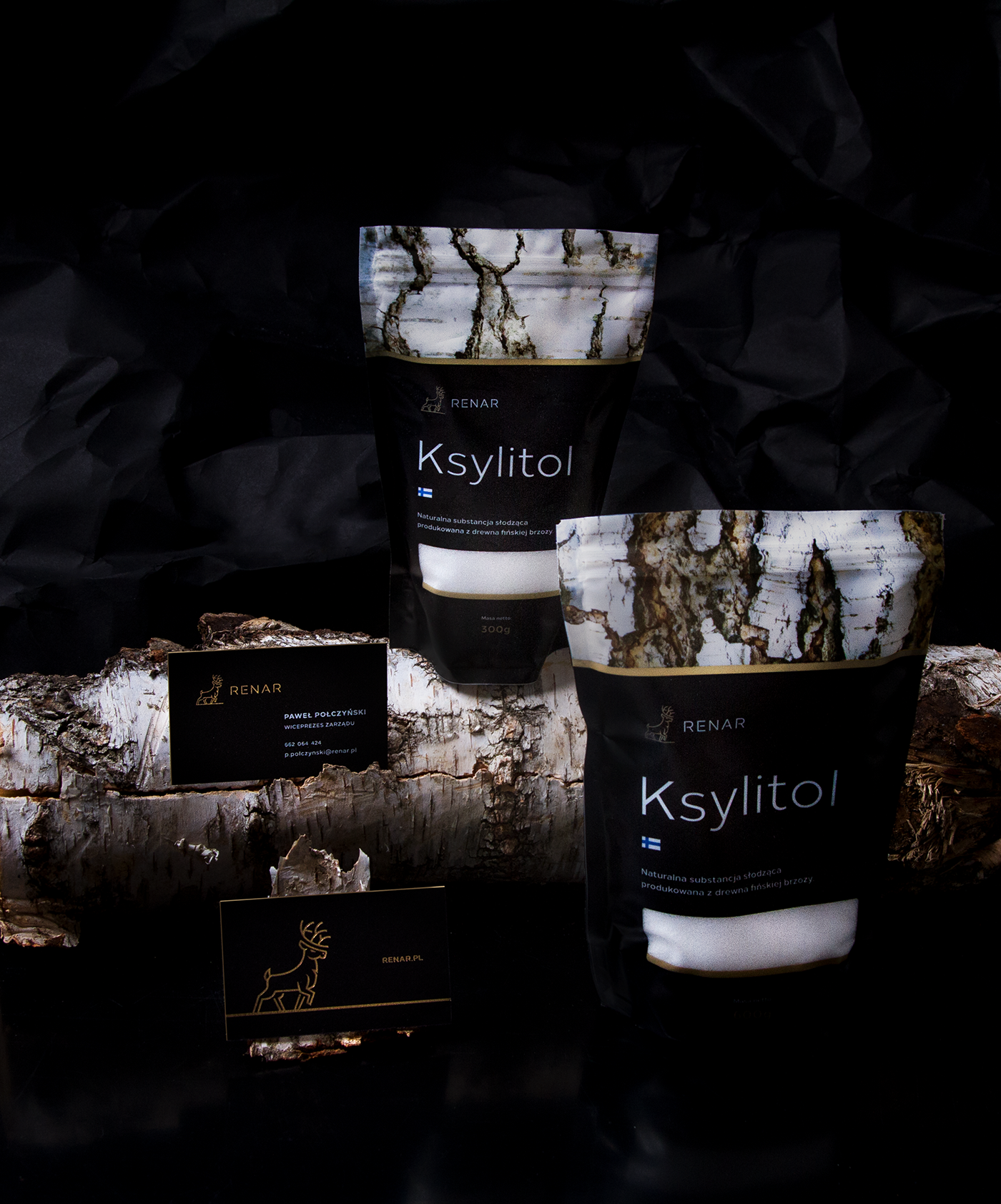package design  print hotstamping xylitol renar Logo Design healthy food