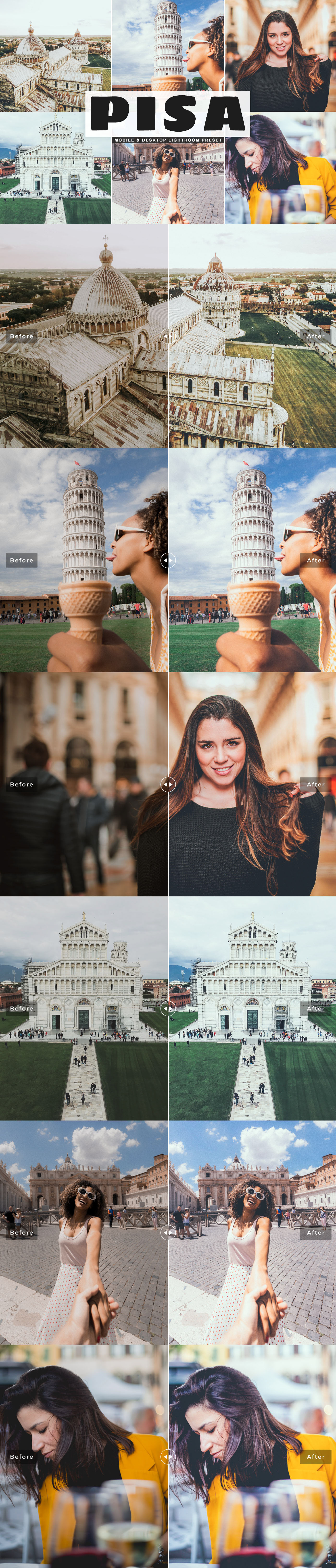 Free Pisa Lightroom Preset will create unique tones and styles into your photographs.