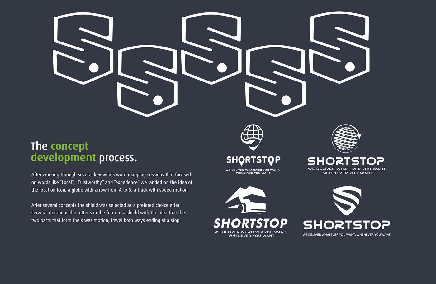 brand Brand Design branding  delivery letter s logistic logo Logo Design Project shield