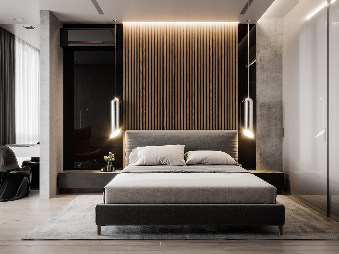 interior visualization on behance. Black Bedroom Furniture Sets. Home Design Ideas